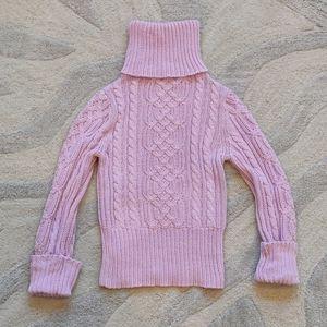 Lilac Turtleneck Knit Sweater